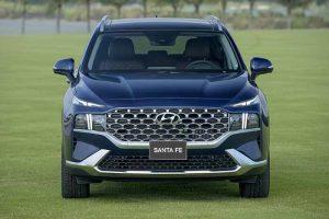 Đầu xe Hyundai Santafe 2021